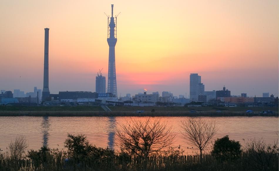ダイヤモンド富士・葛飾区荒川堤防上_a0150260_23431619.jpg
