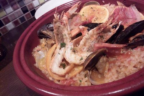 「タジン鍋で作る魚介のパエリア オレンジ風味」_f0194104_16491532.jpg