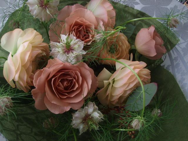 オークリーフ(淡色トーンの花束)_f0049672_178771.jpg