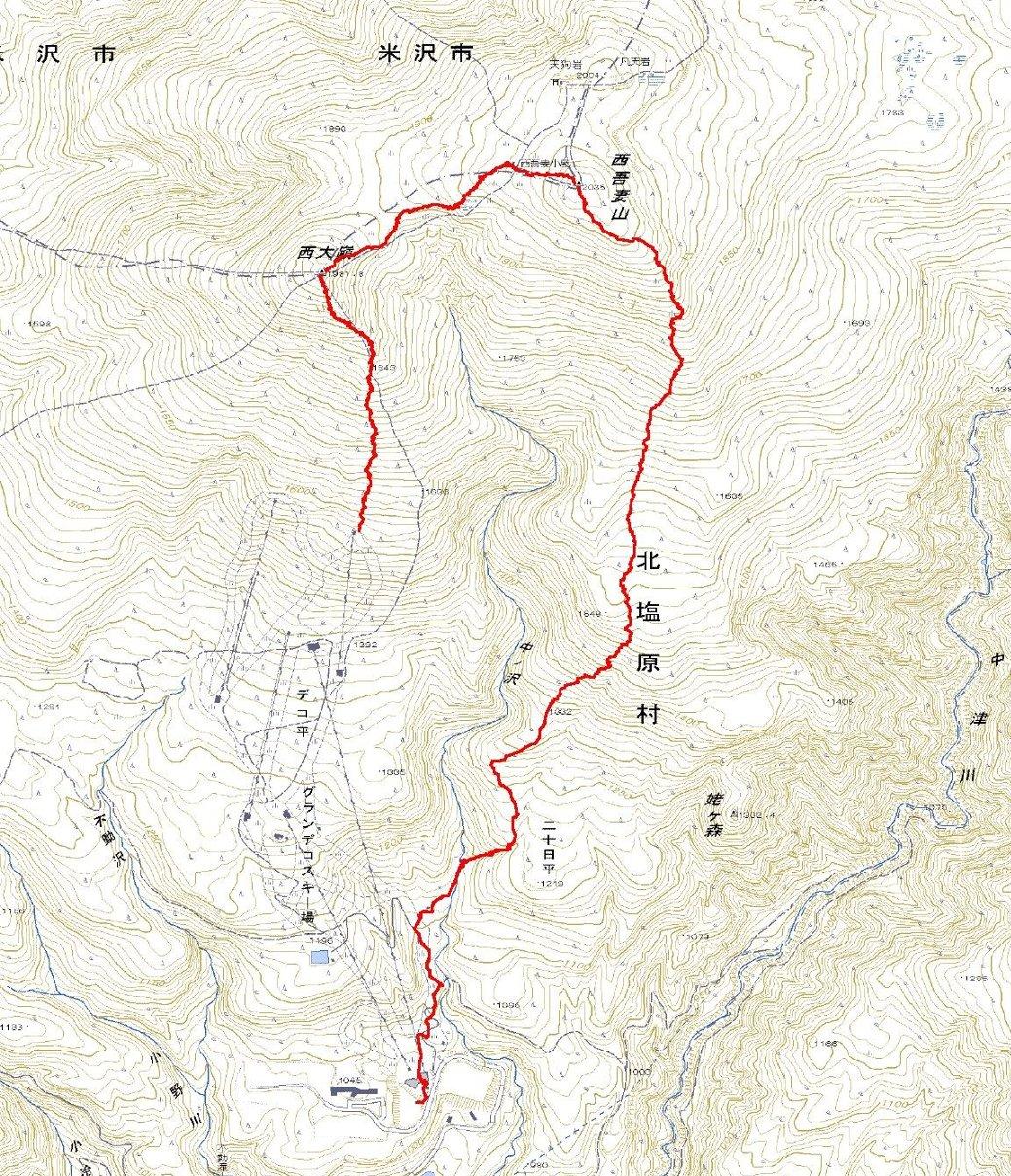 西吾妻山・二十日平 ~ 2011年2月4日_f0170180_22343881.jpg