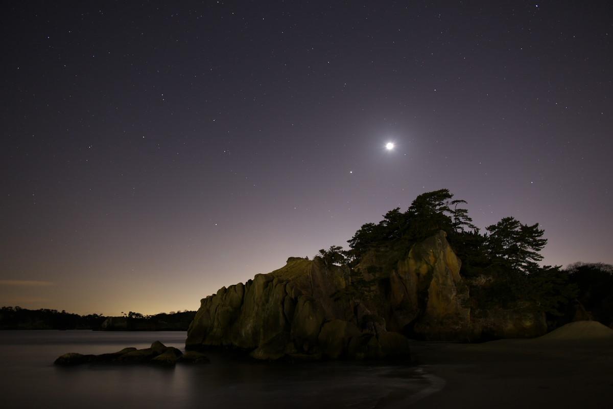 月と木星の接近_b0191074_1953320.jpg