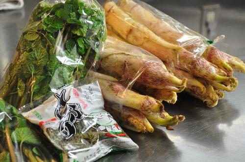 秋田より春野菜が届きました。_f0194104_1895830.jpg