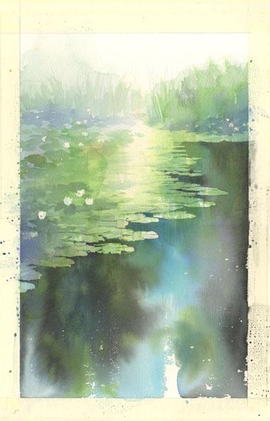 水彩画 制作途中_f0176370_17465717.jpg