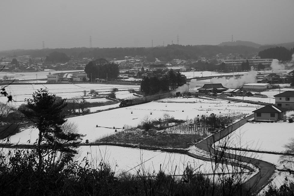 白い地面に白煙 - 2011冬・真岡 -_b0190710_20133746.jpg