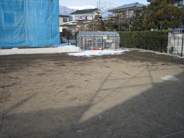 穂高SA邸 工事始まりました。_c0218716_18221016.jpg