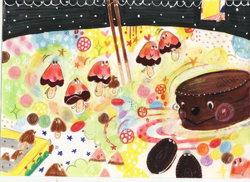 かいじゅうたちのいるチョコろ でこりんと羽田純の絵本展_b0151262_9432969.jpg