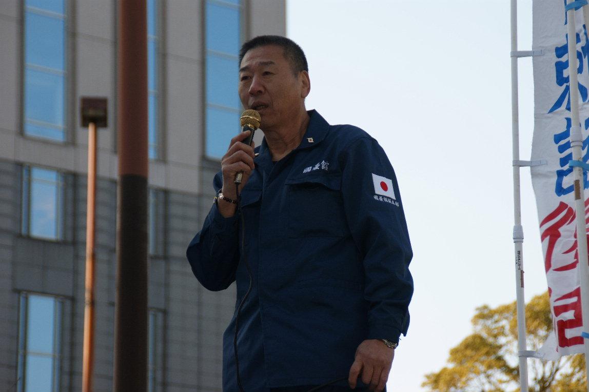 二月十三日 横濱演説會參加 於横濱驛西口ロータリー  _a0165993_1491611.jpg