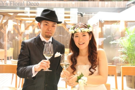 白いお花 花冠&リストレット_b0113510_19392027.jpg