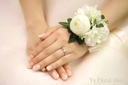 白いお花 花冠&リストレット_b0113510_19393612.jpg