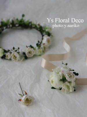 白いお花 花冠&リストレット_b0113510_19395299.jpg