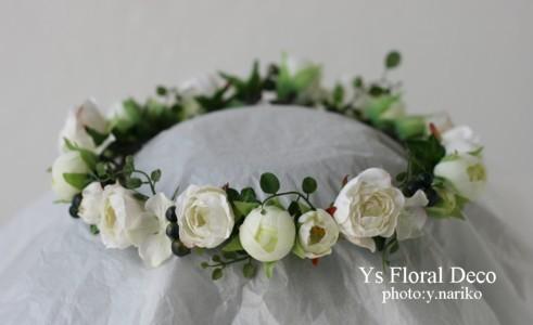 白いお花 花冠&リストレット_b0113510_19401412.jpg