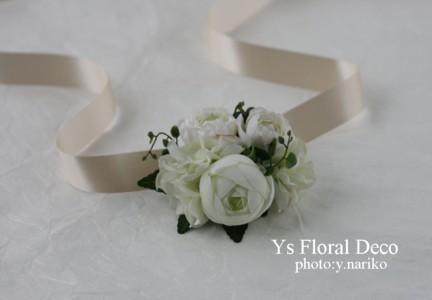 白いお花 花冠&リストレット_b0113510_1940569.jpg