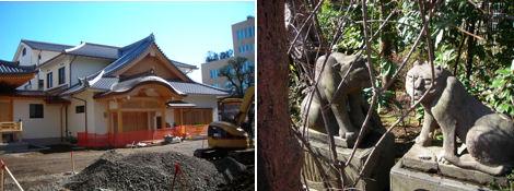 寺院と狛犬その10・改修中の天現寺の狛犬は_d0183174_192387.jpg