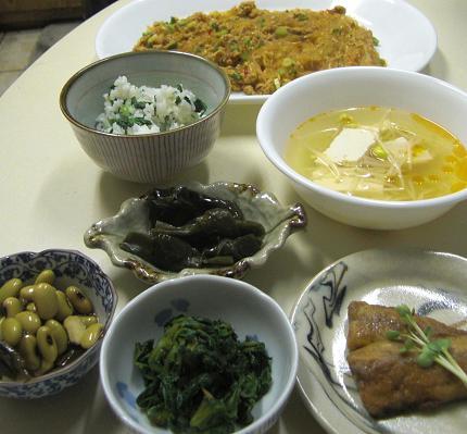 マーボー春雨と菜飯。_c0119140_149434.jpg