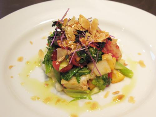 オマール海老と春野菜のインサラータ_c0153426_11125360.jpg