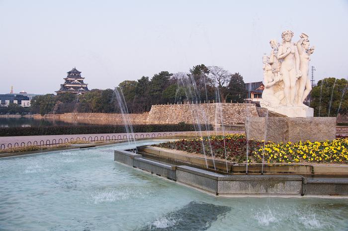 広島城・夕景(広島)_f0155048_2237245.jpg