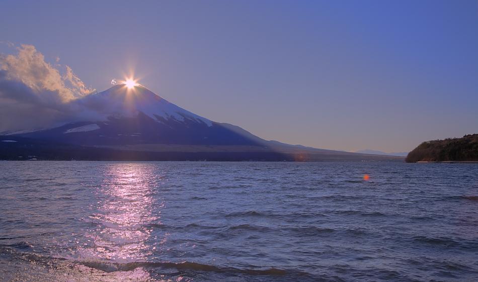 ダイヤモンド富士・山中湖村平野大堀川河口_a0150260_023325.jpg