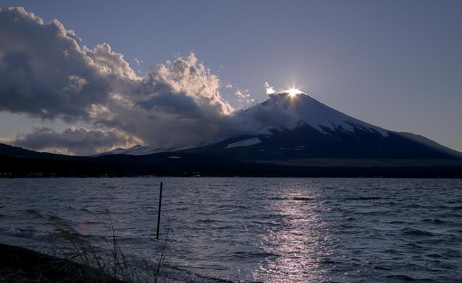 ダイヤモンド富士・山中湖村平野大堀川河口_a0150260_024863.jpg
