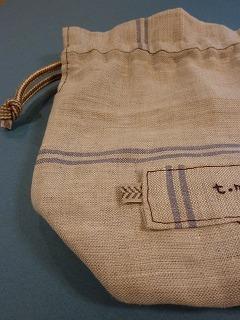 kitchen cloth   きんちゃく袋_a0165160_5495471.jpg