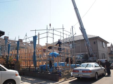 伝統構法の家建て方開始_e0046396_1550925.jpg