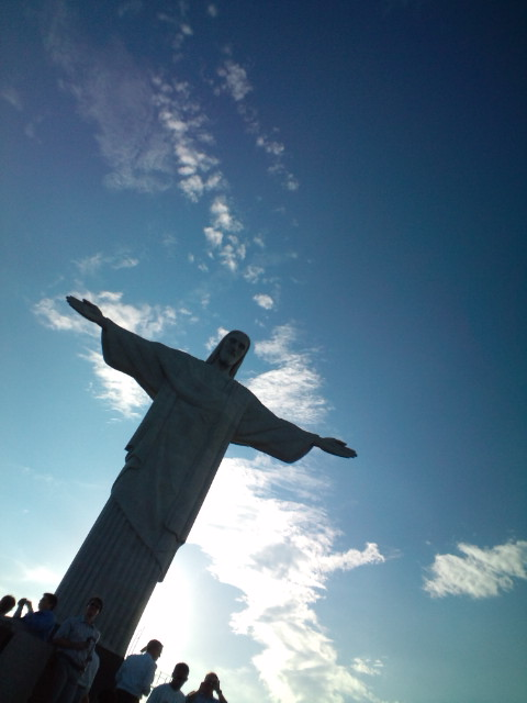 Best moment with Brasilian friends in Corcovado now p(^-^)q_b0032617_817042.jpg