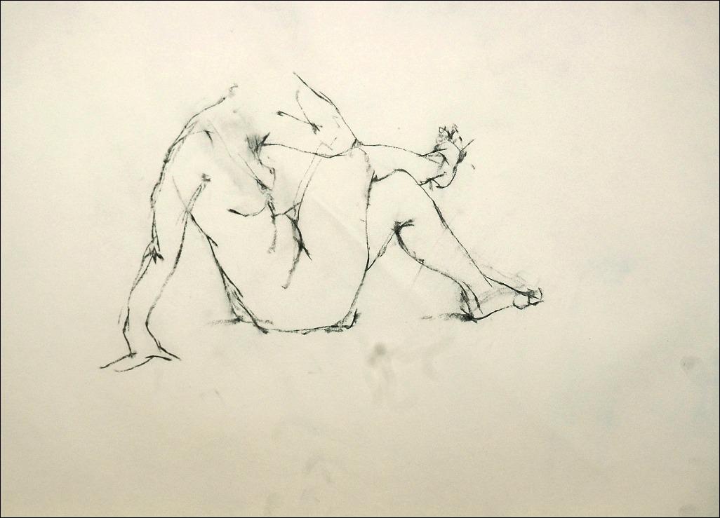 裸婦クロッキー 木炭で_f0159856_7574963.jpg