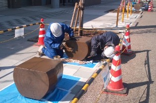昭和公園 木材保護材塗布_b0172896_958033.jpg