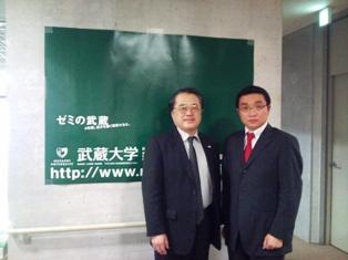 2/24 武蔵大学清水敦学長を表敬訪問_f0138645_19491333.jpg