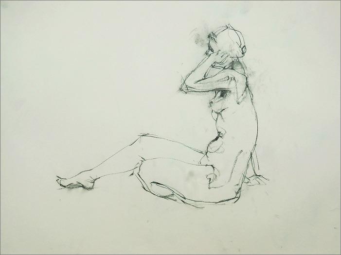 裸婦線描 木炭で_f0159856_7215655.jpg