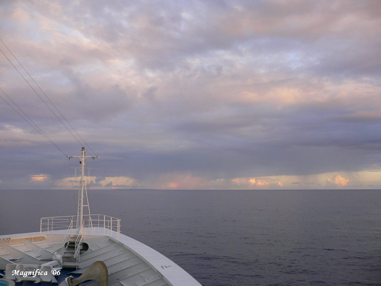 ASUKA II world cruise 2006 No.73 crossing the date line/日付変更線通過_e0140365_1549340.jpg
