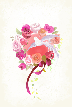 『Lease of flower and bird』_f0172313_12403928.jpg