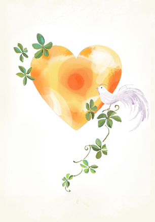 『Bird and orange heart』_f0172313_12484066.jpg