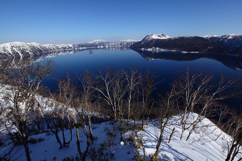 2/3 眼下の絶景 驚愕 真っ青の摩周湖_a0160581_9125854.jpg
