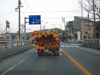 自伐林家によるAB材の運搬_e0002820_87272.jpg