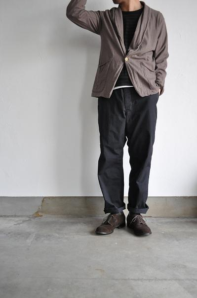 RINEN/リネン 20/1 オーガニック天竺ボーダー Uネック7分袖