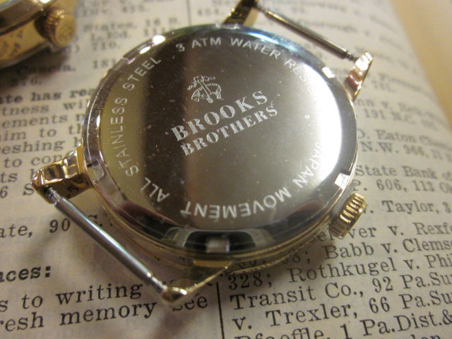 BROOKS BROTHERS ribbon belt watch _a0108963_1250375.jpg