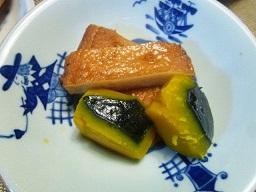 焼き魚とお刺身とかぼちゃの煮物(*^^)v_b0175688_20563194.jpg