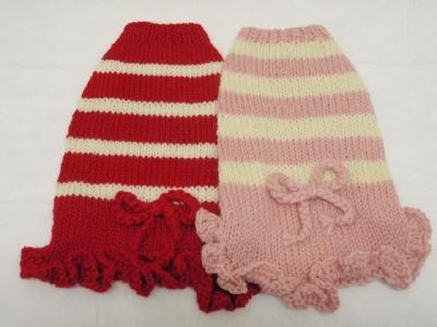 可愛い手編みのワンピとカリファミリー5マルちゃん_b0001465_1723587.jpg