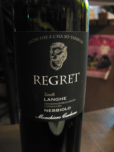 LANGHE NEBBIOLO REGRET [2008] Monchiero Carbone_c0153426_11483773.jpg
