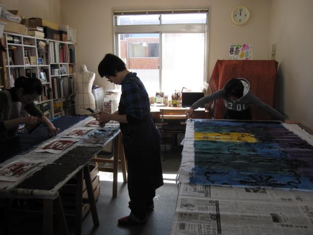 Atelier Couleur 染色教室 しごき日_f0180433_22271530.jpg