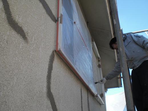 屋根と外壁リフォーム ~ 外壁の下地処理_d0165368_8104115.jpg