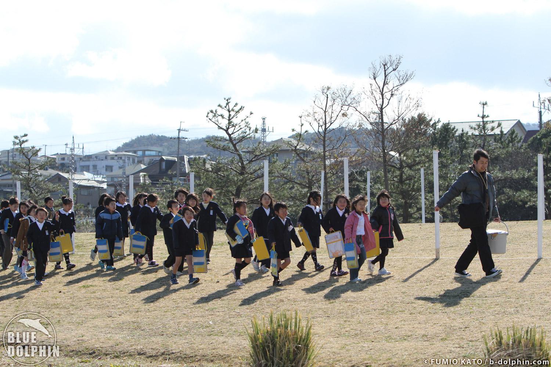 3/4 せんなん里海公園アマモ移植_e0201269_12423393.jpg