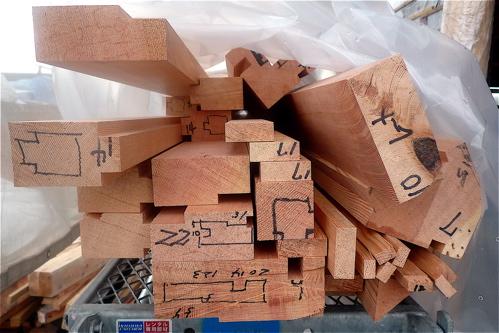 木製カーテンウォール工事がはじまりました。_f0165030_145331.jpg