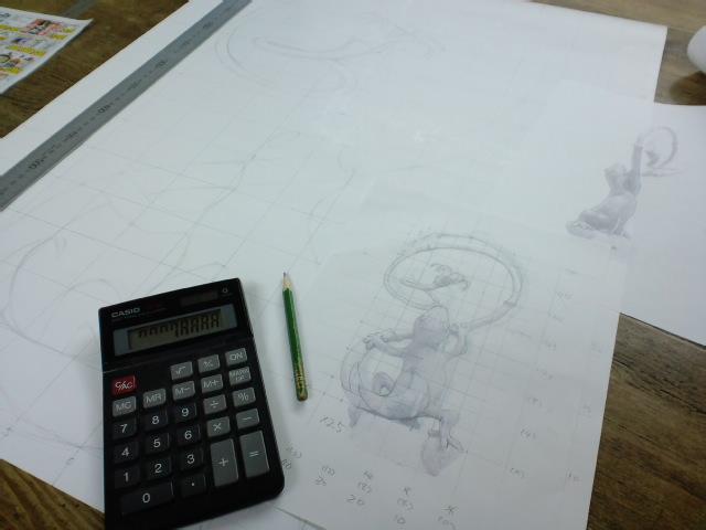 『トカゲのリノ』図面から針金模型、イメージ画まで_e0209927_2422633.jpg