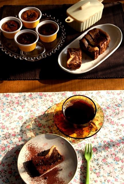 たまらん! マーブルチョコレート チーズケーキ* ベイクド_d0034447_9485725.jpg