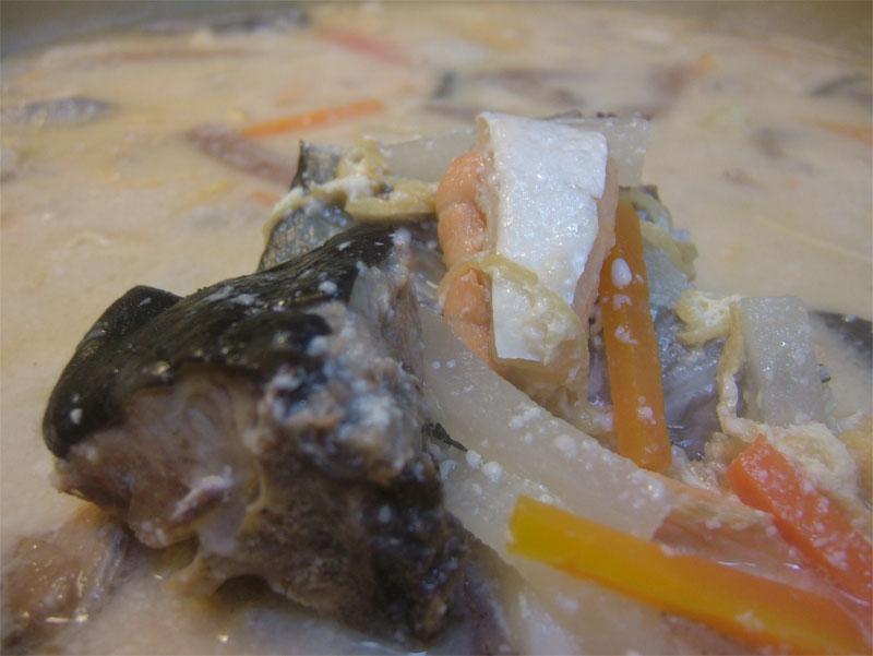 寒鰤とキングサーモンの粕汁!_c0110051_11272050.jpg