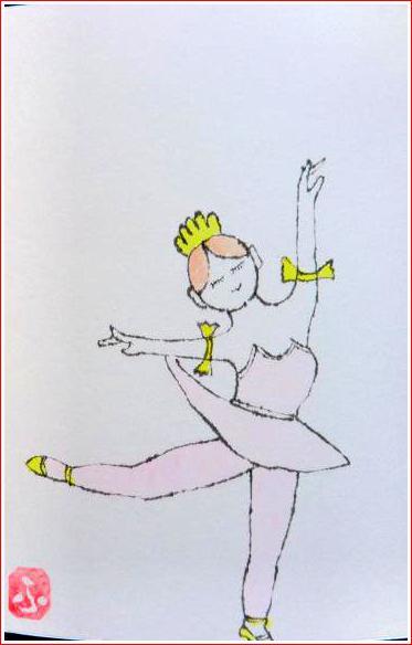絵 手 紙 ( 踊り子 ) 662_b0104092_16354033.jpg