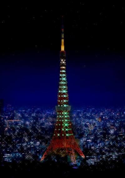 一夜限りのスペシャルイベント 東京タワーがダイナソーグリーンに!_f0229508_9441140.jpg
