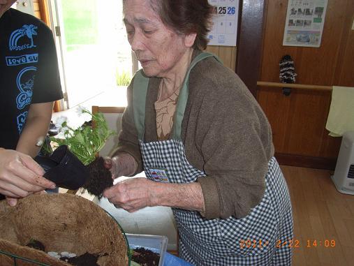 園芸療法☆2月のレク_d0163307_1121470.jpg