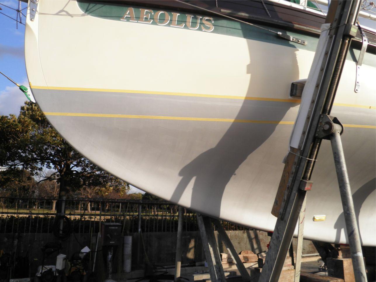 船底整備のすべて⑪ ハル プライマー015塗装後_a0051924_22225354.jpg